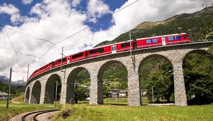 Treinvakantie in Zwitserland