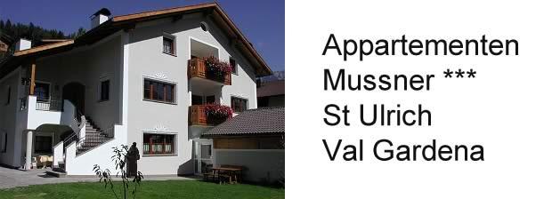 Appartementen Mussner, St Ulrich