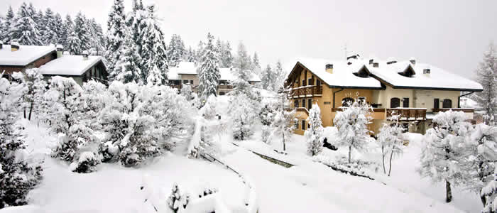 Grote chalets en luxe appartementen wintersport Italië