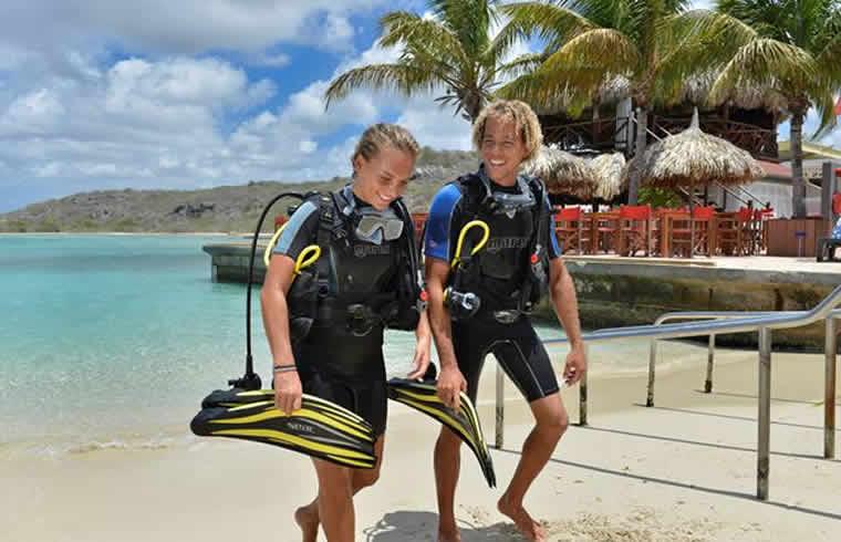 Duiken op chogogo dive & beach resort Curaçao