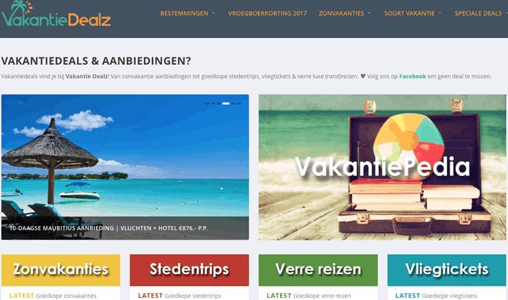 Website vakantiedealz