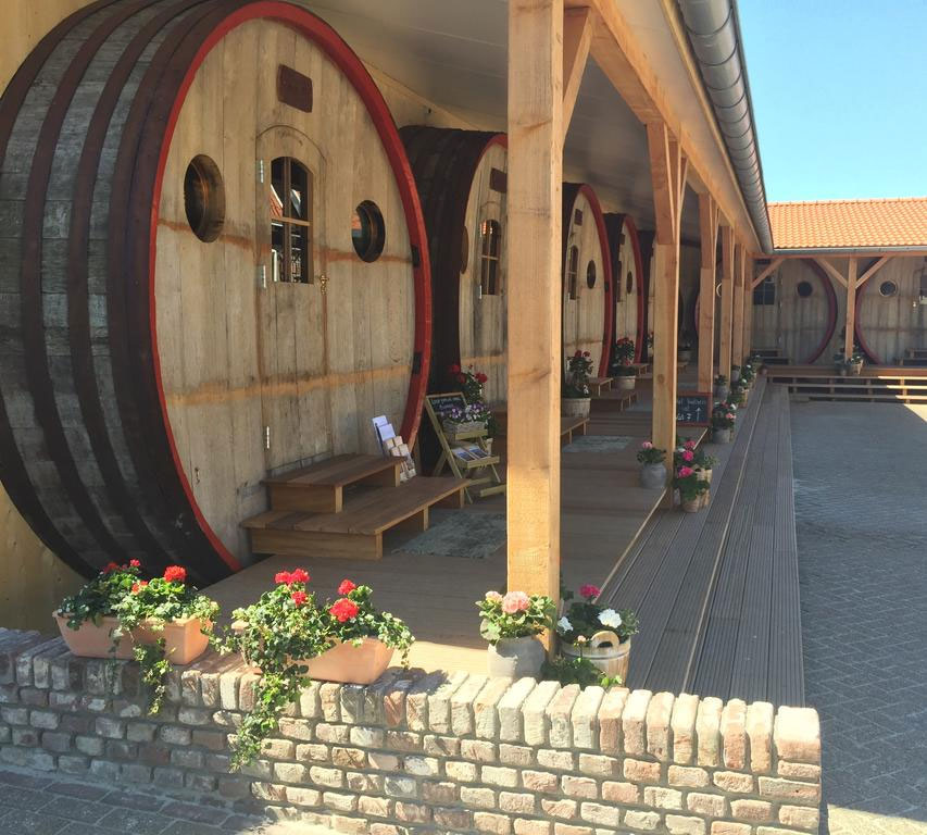 Aparte vakantieaccommodaties: overnachten in een wijnvat, leuk voor wijnliefhebbers!